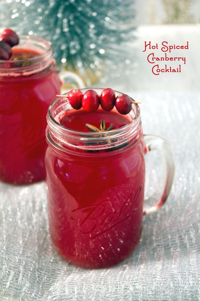 Hot Spiced Cranberry Cocktail -- Warm cranberry juice with vodka makes the perfect holiday cocktail! | wearenotmartha.com
