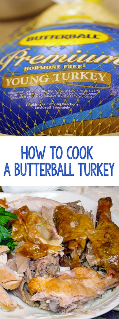 Whether you're cooking Thanksgiving dinner for a crowd or you just want a perfectly cooked turkey, this guide will teach you how to cook a Butterball Turkey perfectly every time! | wearenotmartha.com #butterballturkey #roastedturkey #thanksgivingdinner #thanksgiving #turkeyrecipe #turkey