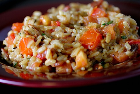 Bacon, Basil, and Tomato Risotto