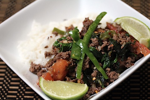 Thai Beef Basil with Coconut Rice