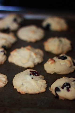 Blueberry, Lemon, and White Chocolate Chunk Cookies