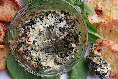 Spinach, Onion, and Bacon Dip