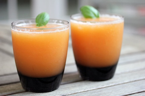 Frozen Peach Margarita -- A cocktail made with the freshest of ingredients.... Peaches and tequila! | wearenotmartha.com