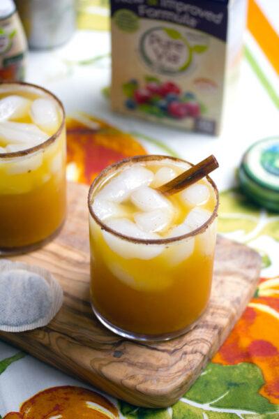 Iced Pumpkin Green Tea Cocktail -- A fall-inspired drink   wearenotmartha.com