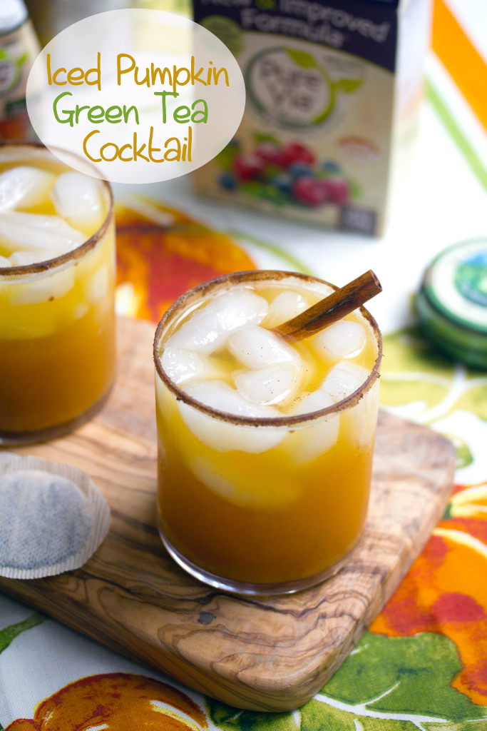Iced pumpkin green tea cocktail recipe we are not martha for Mixed drinks with green tea