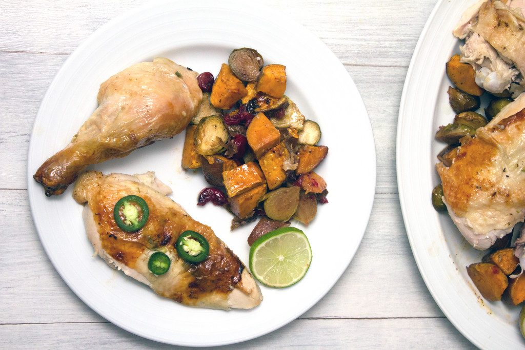 Jalapeño Lime Roast Chicken -- This roast chicken is the perfect healthy comfort food for any time of year! | wearenotmartha.com