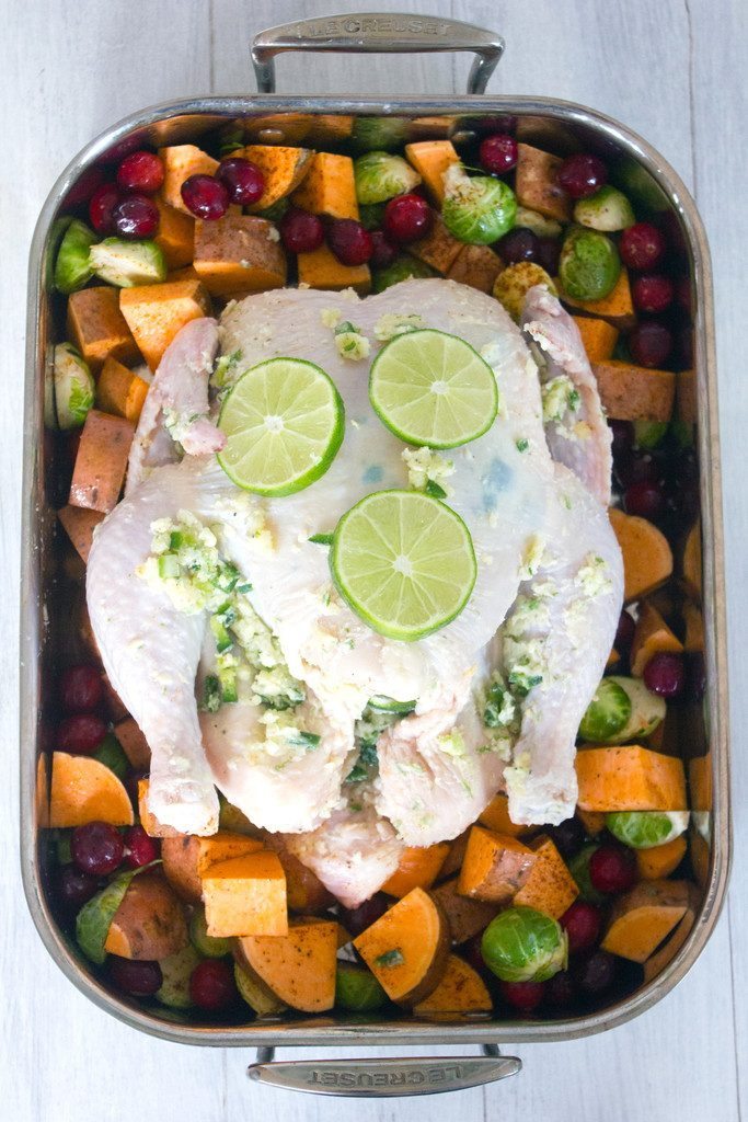 Jalapeño Lime Roast Chicken -- This roast chicken is the perfect healthy comfort food for any time of year!   wearenotmartha.com
