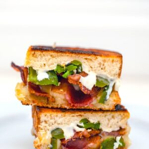 Jalapeño Popper Grilled Cheese -- This Jalapeño Popper Grilled Cheese takes everyone's favorite  jalapeño popper appetizer and turns it into a grilled cheese sandwich fit for a meal | wearenotmartha.com