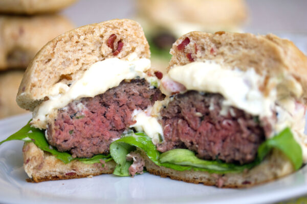 Jalapeno Burgers with Queso