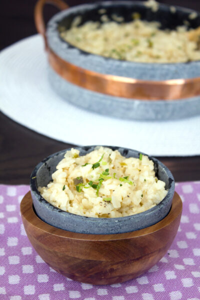 Jalapeño Lime Cheddar Risotto -- This creamy risotto with a kick is incredibly satisfying and so easy to make | wearenotmartha.com