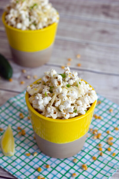 Jalapeño Lemon Parmesan Popcorn -- Way tastier than the average popcorn | wearenotmartha.com