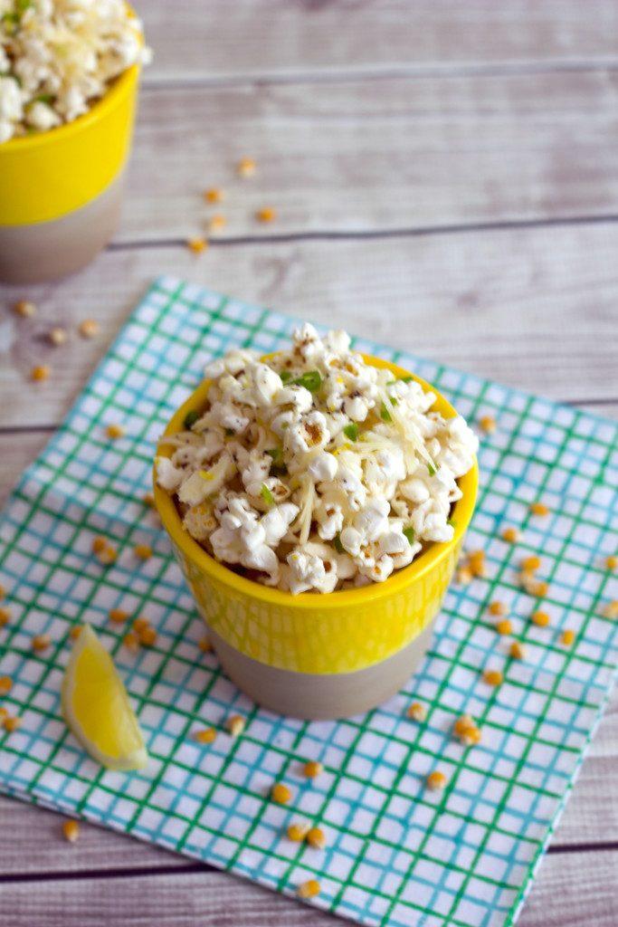 Jalapeño Lemon Parmesan Popcorn -- Way tastier than the average popcorn | wearenotmartha.com