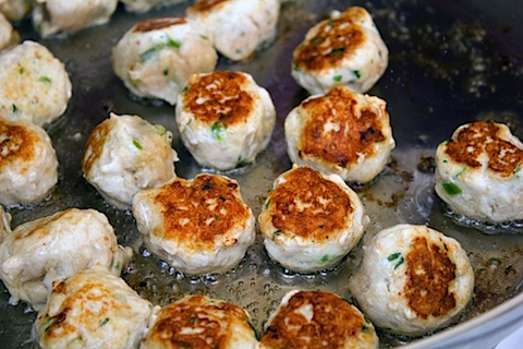 Jalapeno Lime Chicken Meatballs with Whipped Feta Frying 2.jpg