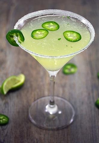 Jalapeño Parsley Sour Martini