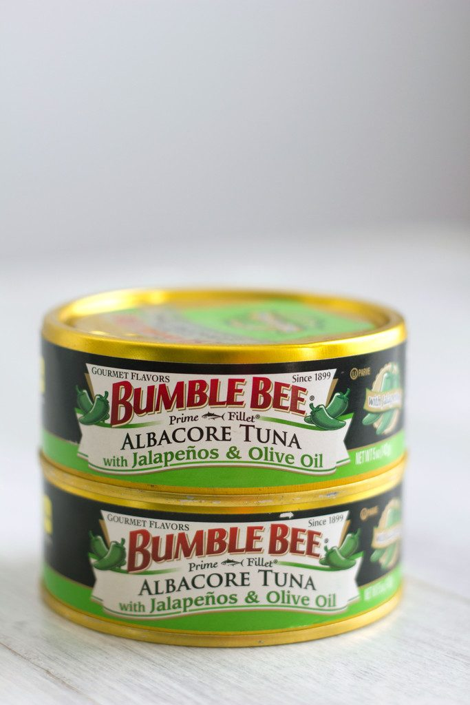 Two cans of Bumble Bee Jalapeño Tuna stacked on each other