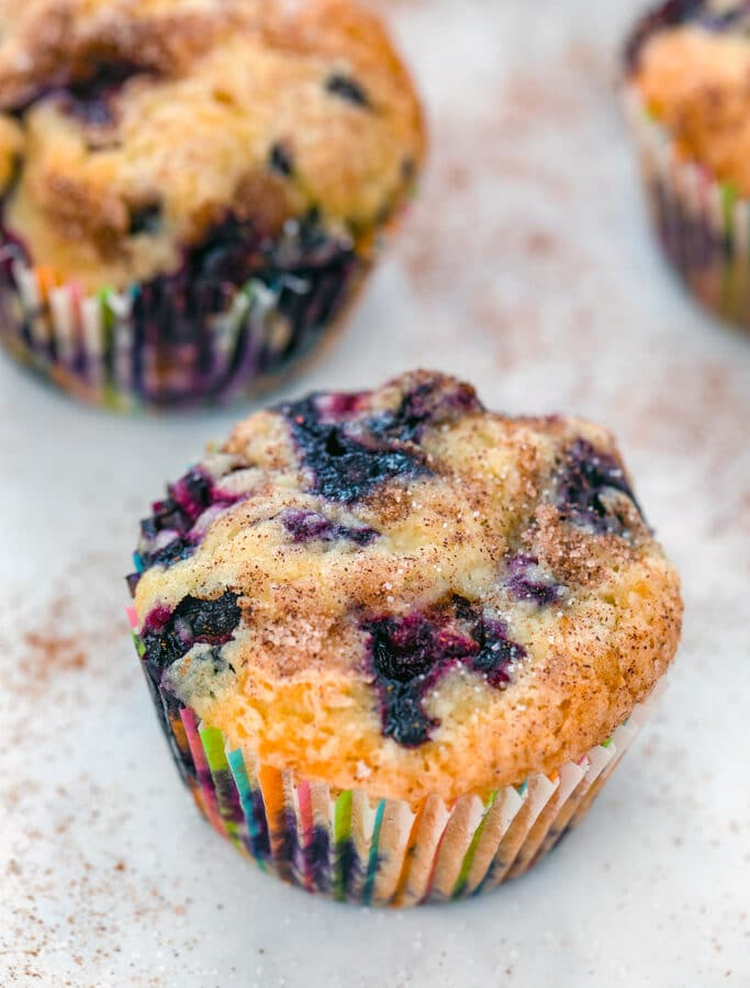 Jordan Marsh Blueberry Muffins -- You may not remember much you bought from Jordan Marsh, but it's likely that you remember Jordan Marsh Blueberry Muffins! These muffins were iconic in New England and can be recreated with this copycat recipe | wearenotmartha.com