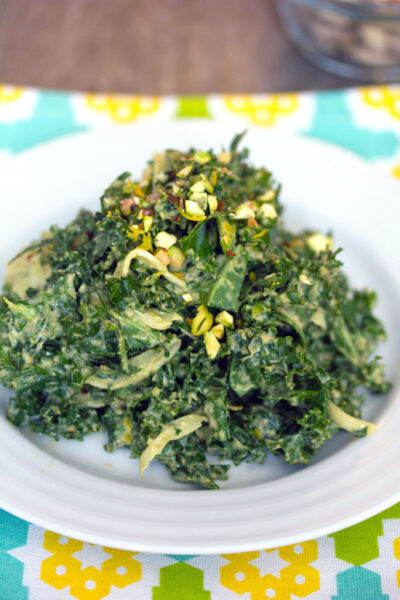 Kale Salad with Pistachio Dressing