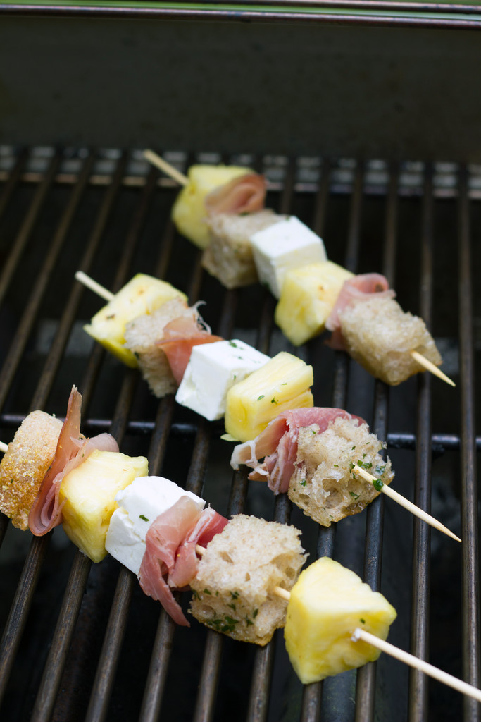 Kebabs on Grill