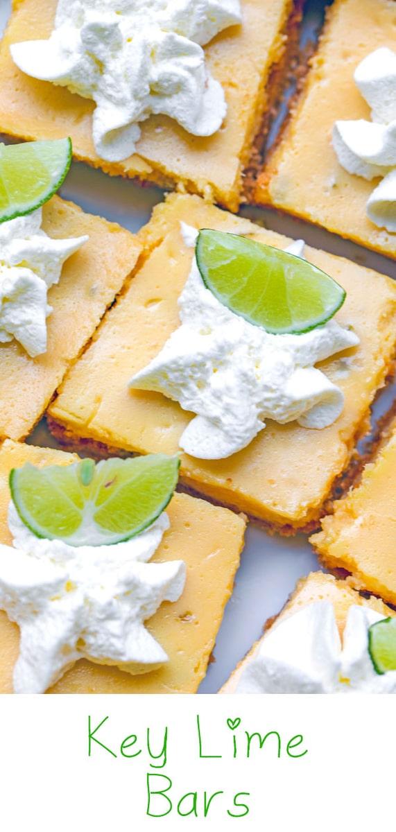 Key Lime Bars with Cinnamon Graham Cracker Crust