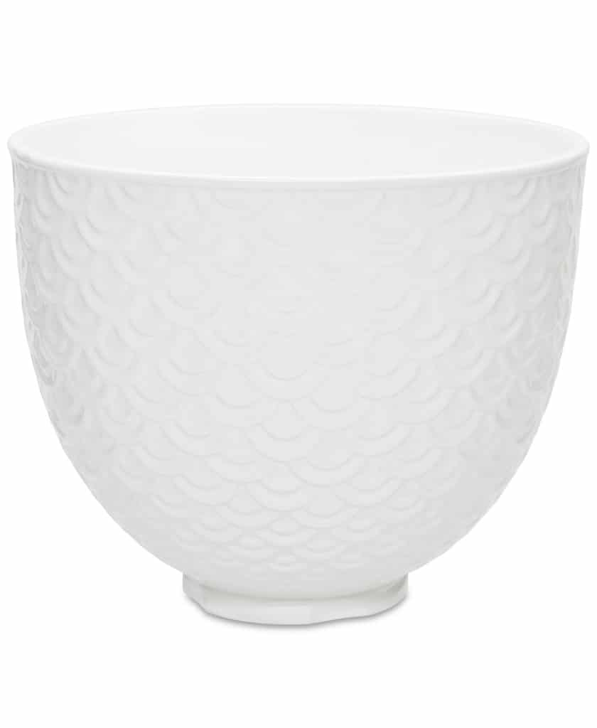 KitchenAid white ceramic mixing bowl