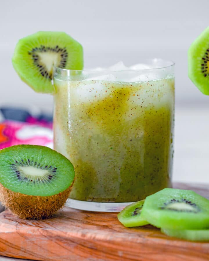 Kiwi is a seriously underrated fruit that isn't used in cocktails nearly enough. This Kiwi Mint Tequila Cocktail is simple to make and packed with fruity flavor!
