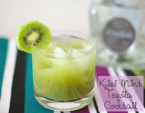 Cinco de mayo with casa noble tequila kiwi mint cocktail for Cocktail kiwi