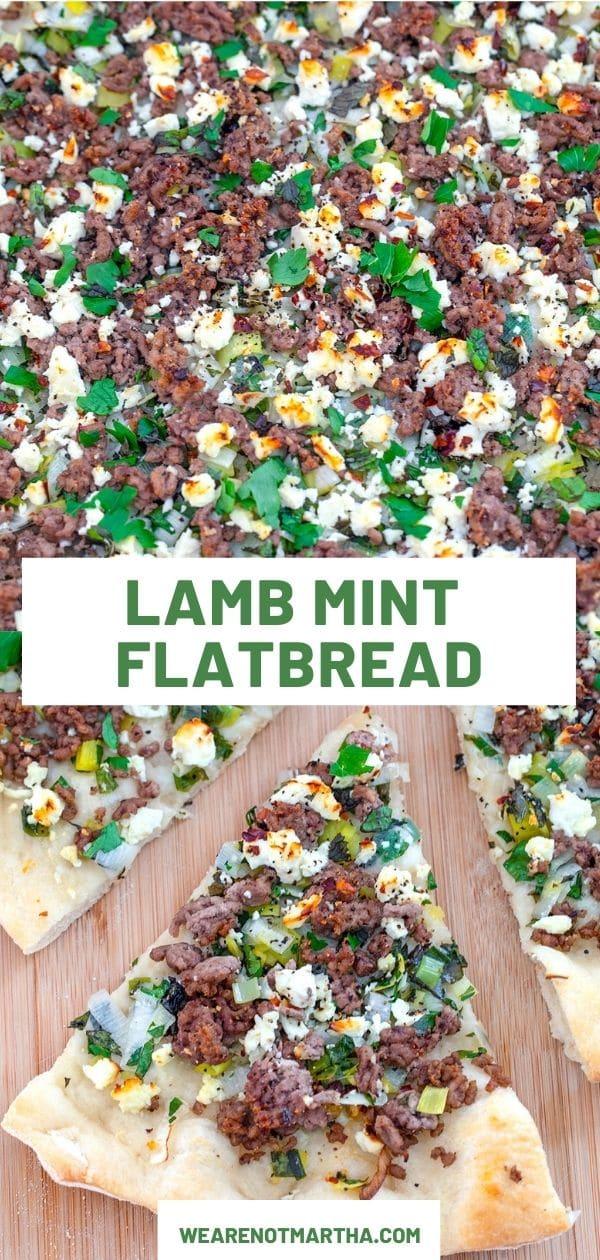 Lamb Flatbread with Mint and Feta