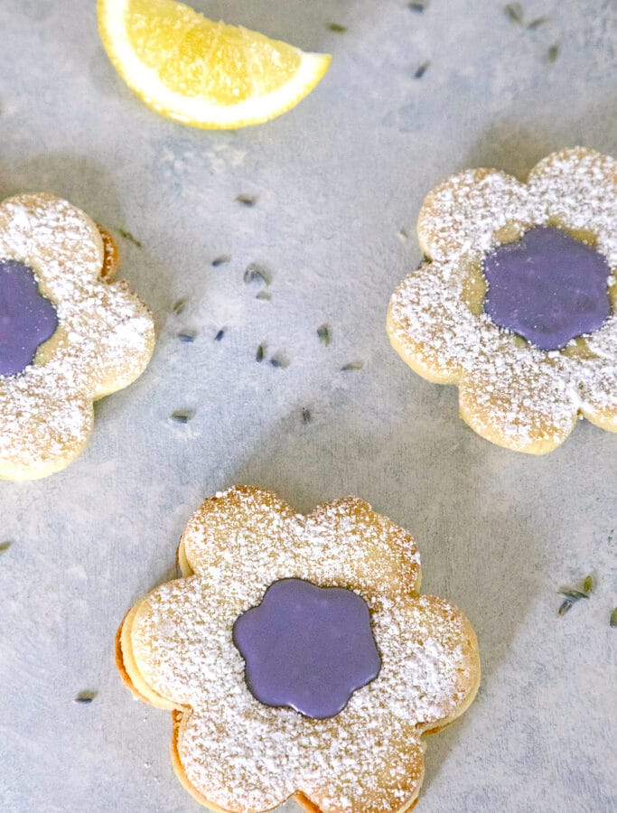 Lavender Lemon Cookies -- These cookies give a floral and citrus refresh to the classic linzer cookie | wearenotmartha.com