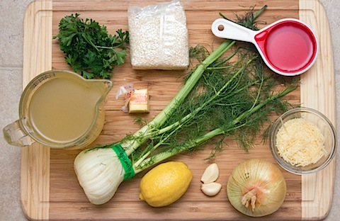 Lemon Fennel Risotto with Mussels Ingredients.jpg