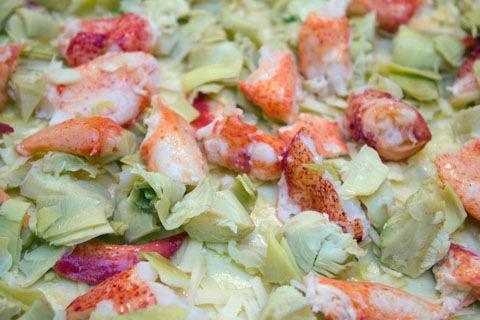 Lobster Artichoke Flatbread Dough Lobster and Artichokes 2.jpg