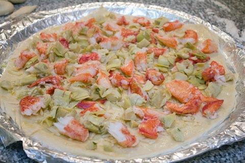 Lobster Artichoke Flatbread Dough Lobster and Artichokes.jpg