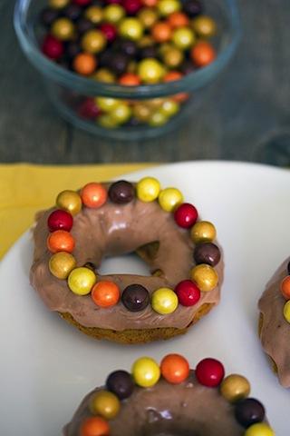 Malted Pumpkin Sixlet Doughnuts