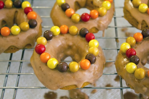 Malted Pumpkin Sixlet Doughnuts Frosted with Sixlets.jpg