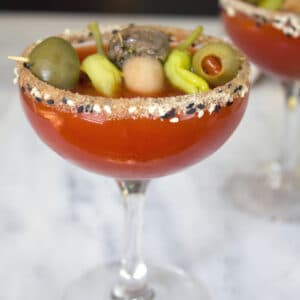 Manhattan Dirty Bloody Mary Martini