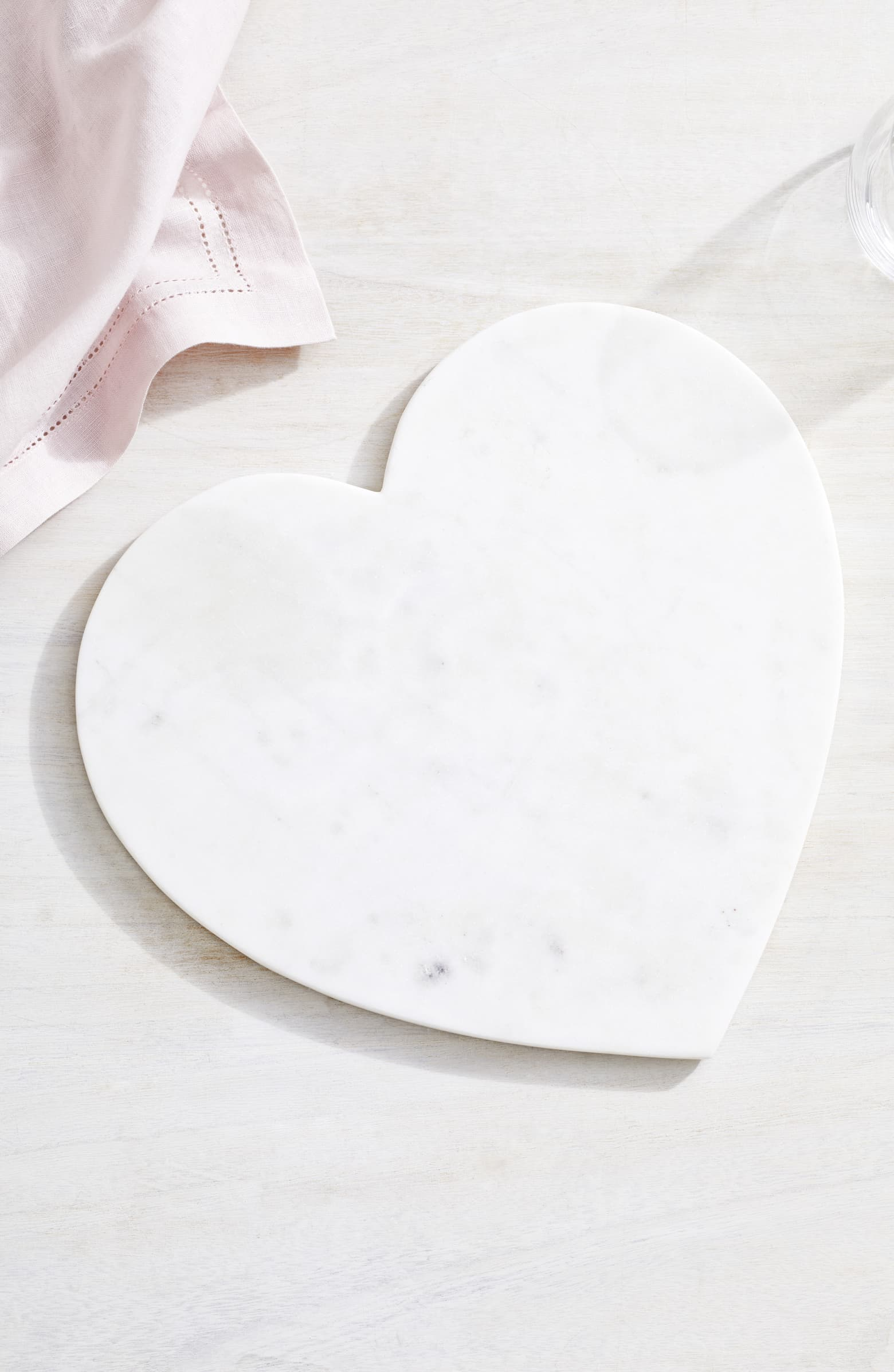 Heart-shaped marble serving board