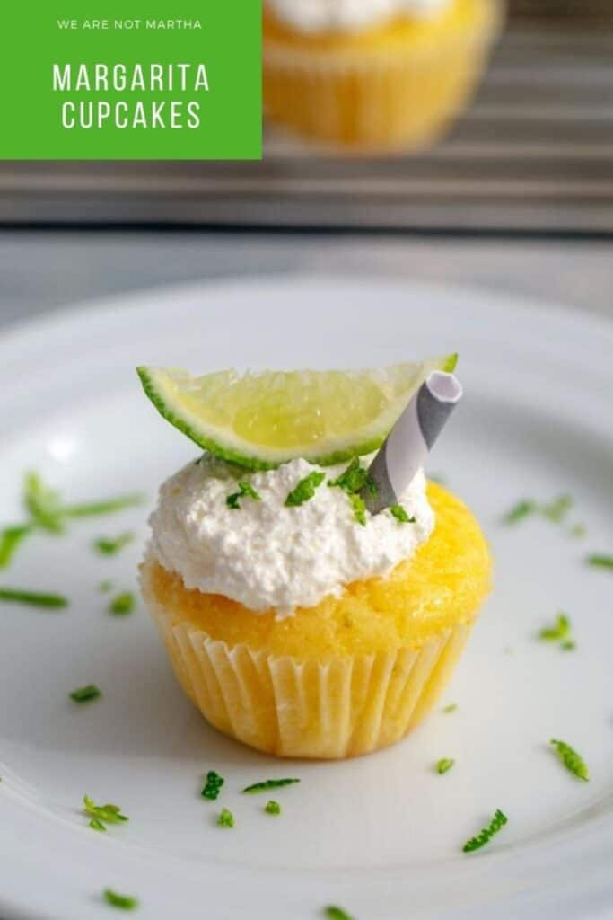 Margarita Cupcakes are packed full of summer flavor... A delicious lime cocktail in cupcake form! | wearenotmartha.com #cupcakes #margaritacupcakes #summerdesserts