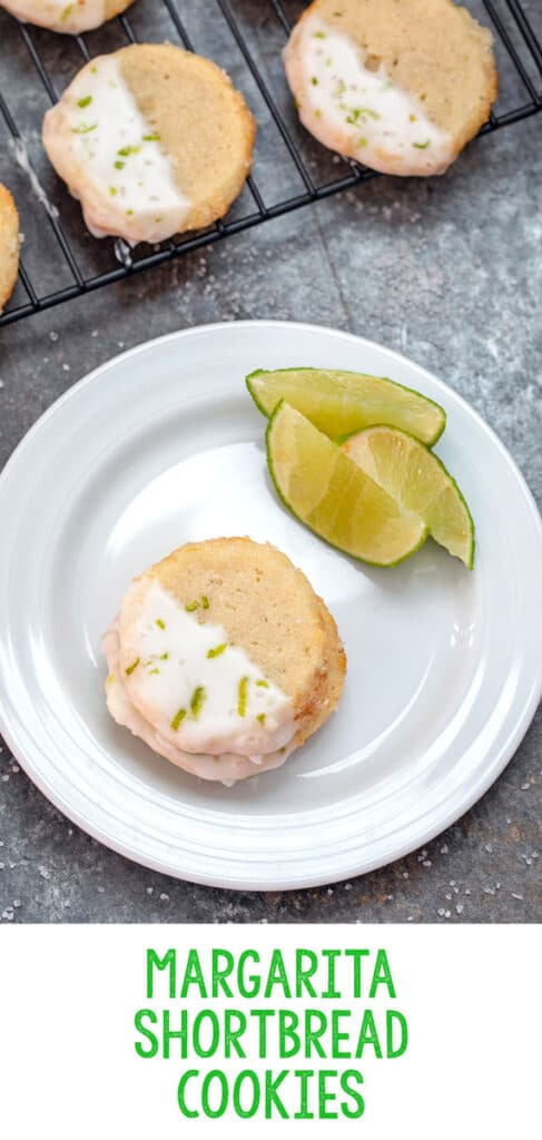 Margarita Shortbread Cookies -- Thanks to orange cointreau in the cookie, tequila in the icing, and plenty of lime juice, these Margarita Cookies taste just like the drink! They're perfect for summertime parties or as happy hour treats | wearenotmartha.com #margaritas #margaritacookies #tequila #summer #cookies