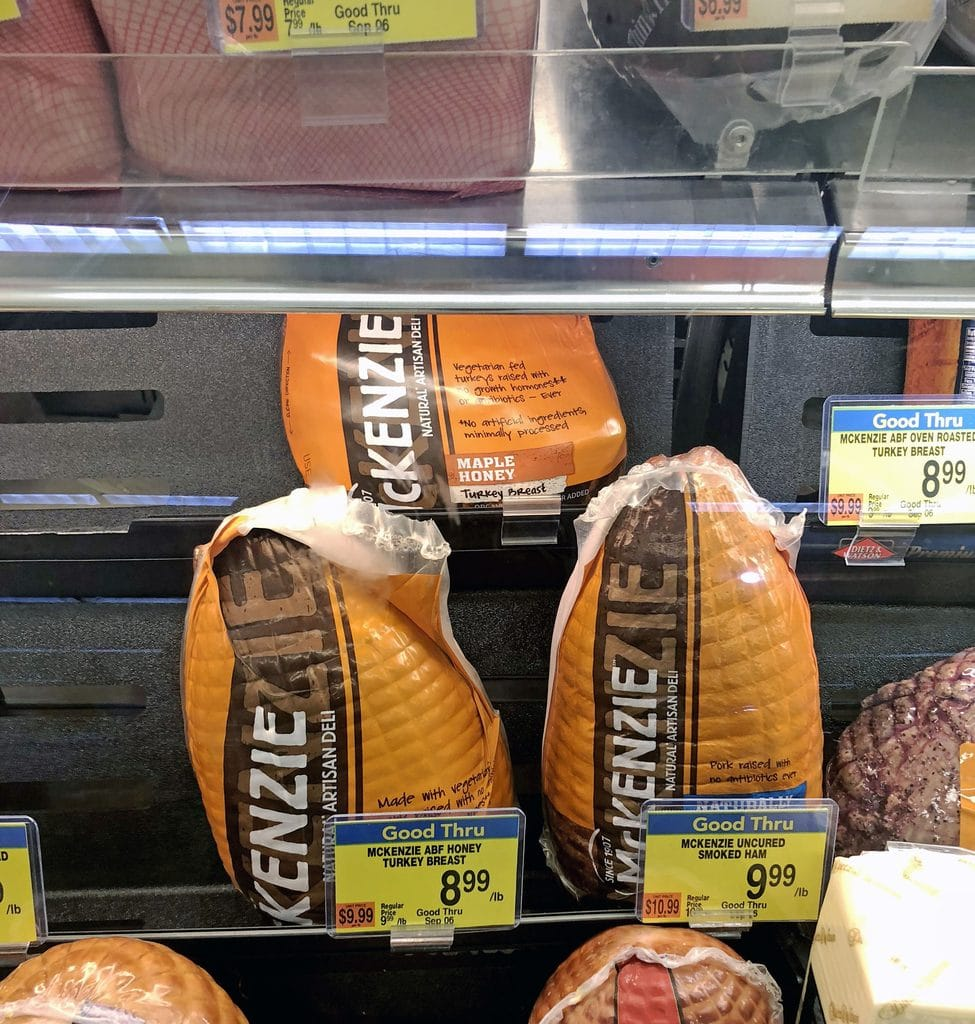 Deli case at shows with McKenzie Artisan Deli Meat