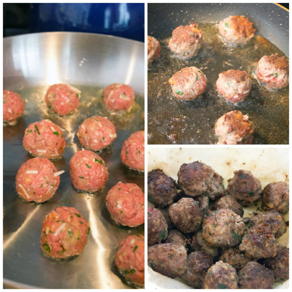 Frying Meatballs |wearenotmartha.com