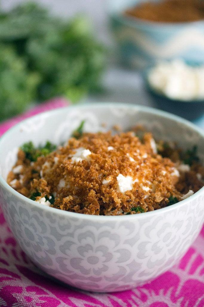Magical Kale Salad with Slow Poached Egg and Panko -- recipe from Boston's Mei Mei food truck   wearenotmartha.com