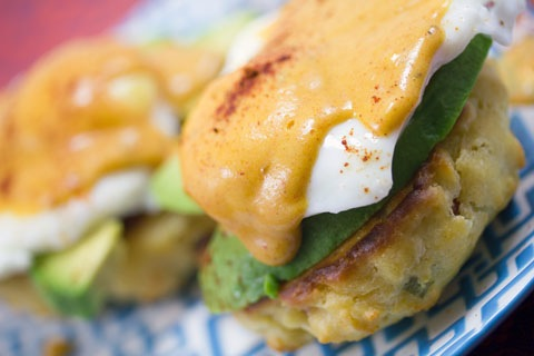 Mexican Eggs Benedict with Chorizo Biscuits and Chipotle Hollandaise Sauce 10.jpg