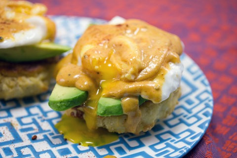 Mexican Eggs Benedict with Chorizo Biscuits and Chipotle Hollandaise Sauce 13.jpg