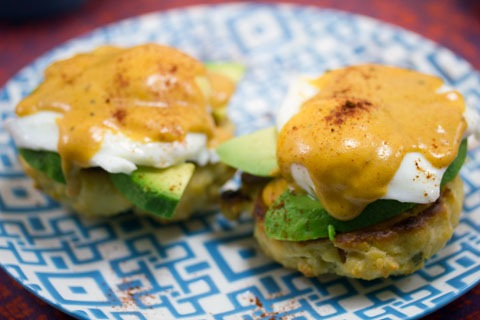 Mexican Eggs Benedict with Chorizo Biscuits and Chipotle Hollandaise Sauce 5.jpg