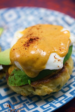 Mexican Eggs Benedict with Chorizo Biscuits and Chipotle Hollandaise Sauce 8.jpg