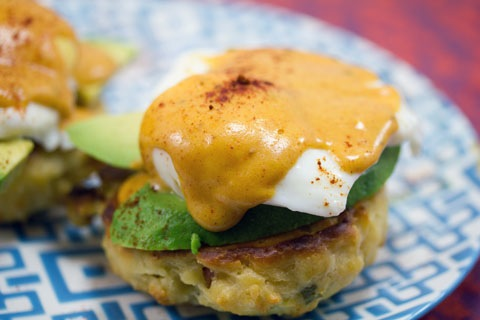 Mexican Eggs Benedict with Chorizo Biscuits and Chipotle Hollandaise Sauce 9.jpg