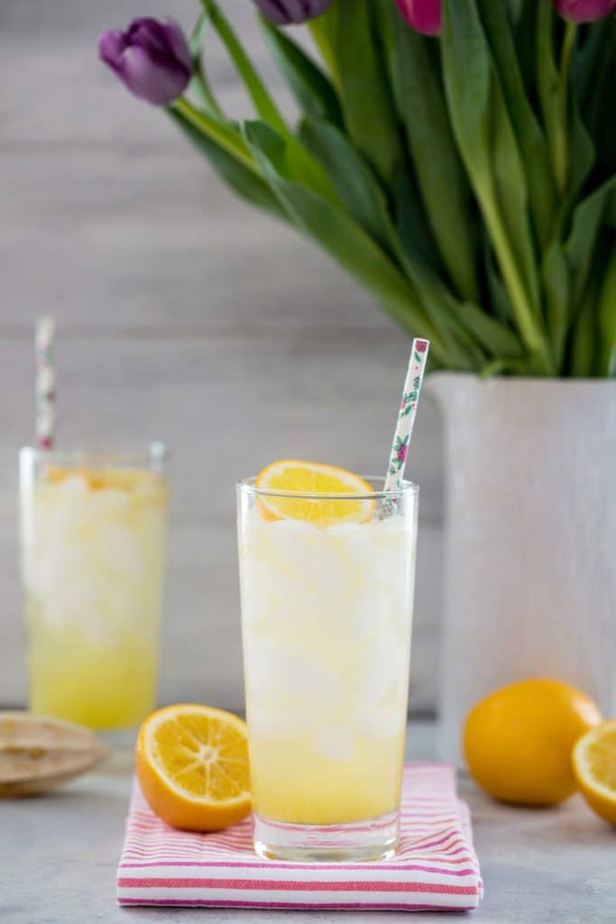 Meyer Lemon Tom Collins -- This twist on the classic Tom Collins drink uses Meyer lemons for a slightly tart, slightly sweet Meyer lemon cocktail you can enjoy all winter long into spring | wearenotmartha.com
