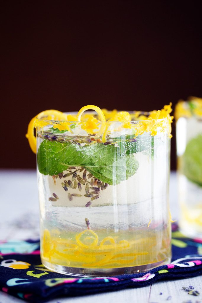 Meyer Lemon Lavender Mojito: Citrus, lavender, and mint packed cocktail with rum | wearenotmartha.com