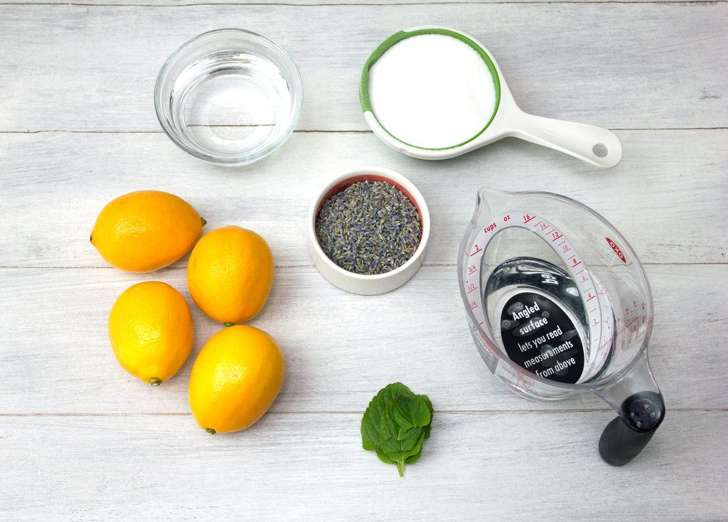 Meyer Lemon Lavender Mojito Ingredients | wearenotmartha.com
