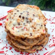 Love Milk Bar's cornflake cookies? These ones have a special twist for the holiday season! Cornflake Chocolate Chip Candy Cane Cookies are packed with lots of peppermint flavor and make the perfect addition to your Christmas cookie platter.