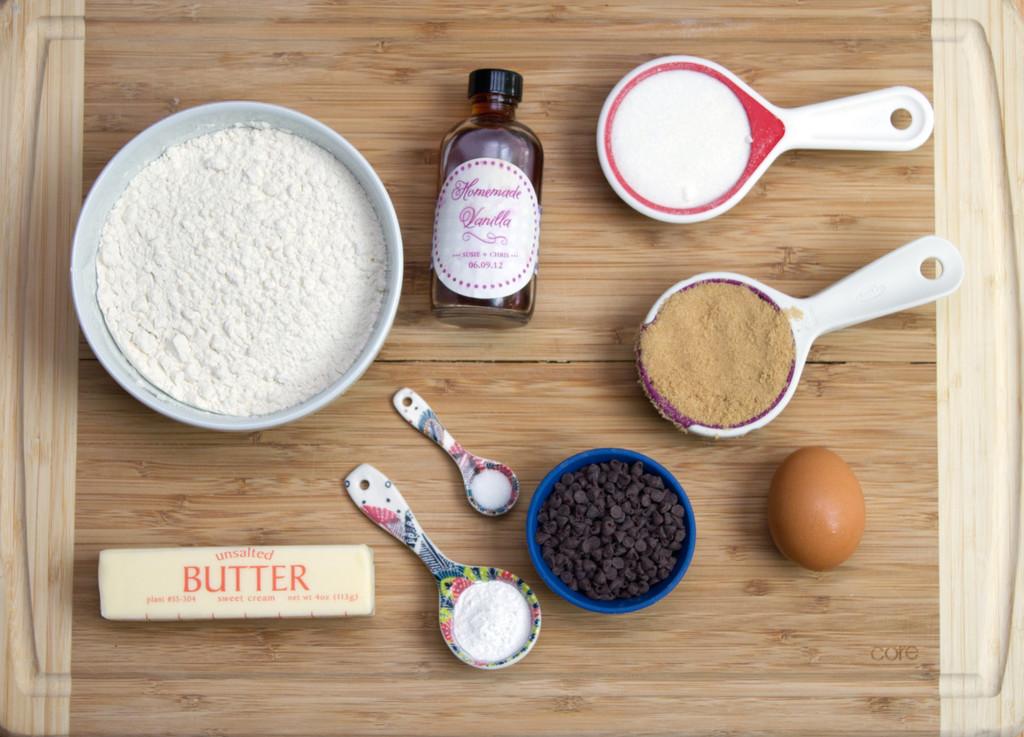 Mini Chocolate Chip Cookie Ingredients